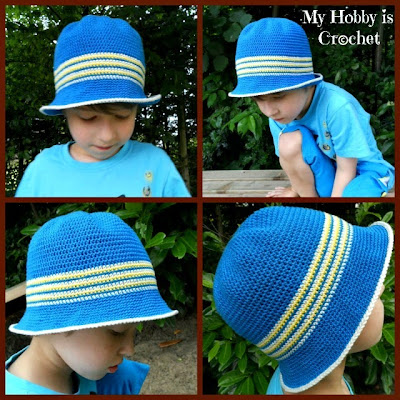 Quick Crochet Baby Hat with Brim - Crochet Baby Hat - YouTube