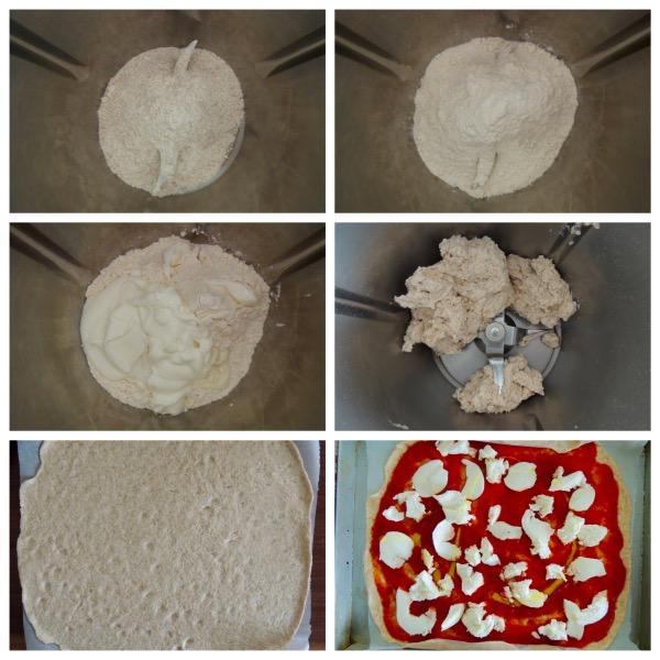 pizza velocissima e light col bimby