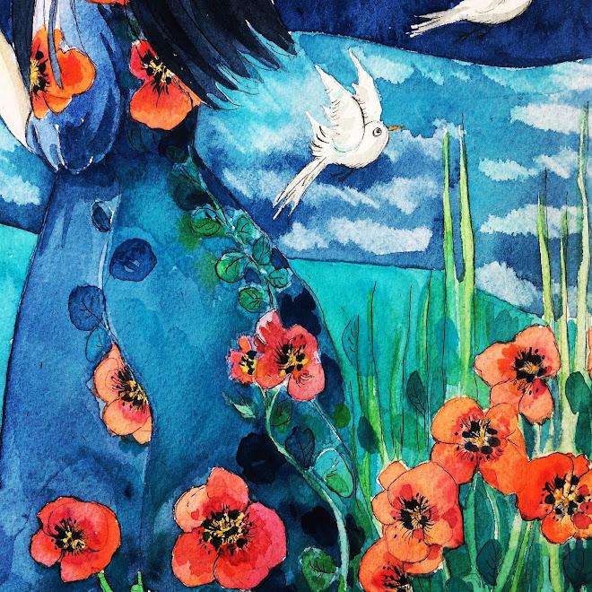 """"""" Jeune fille japonaise à l'ombrelle """""""