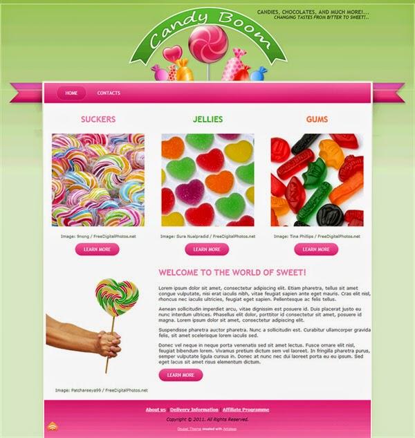 Candy Boom - Free Drupal Theme