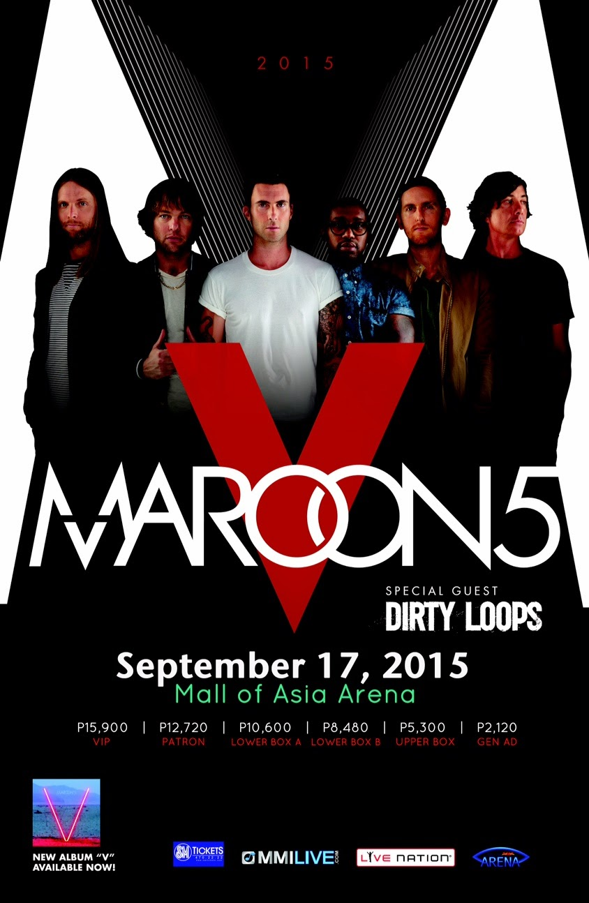 Maroon  V Tour Tickets