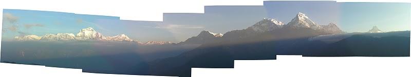 Vista panorámica del Annapurna.