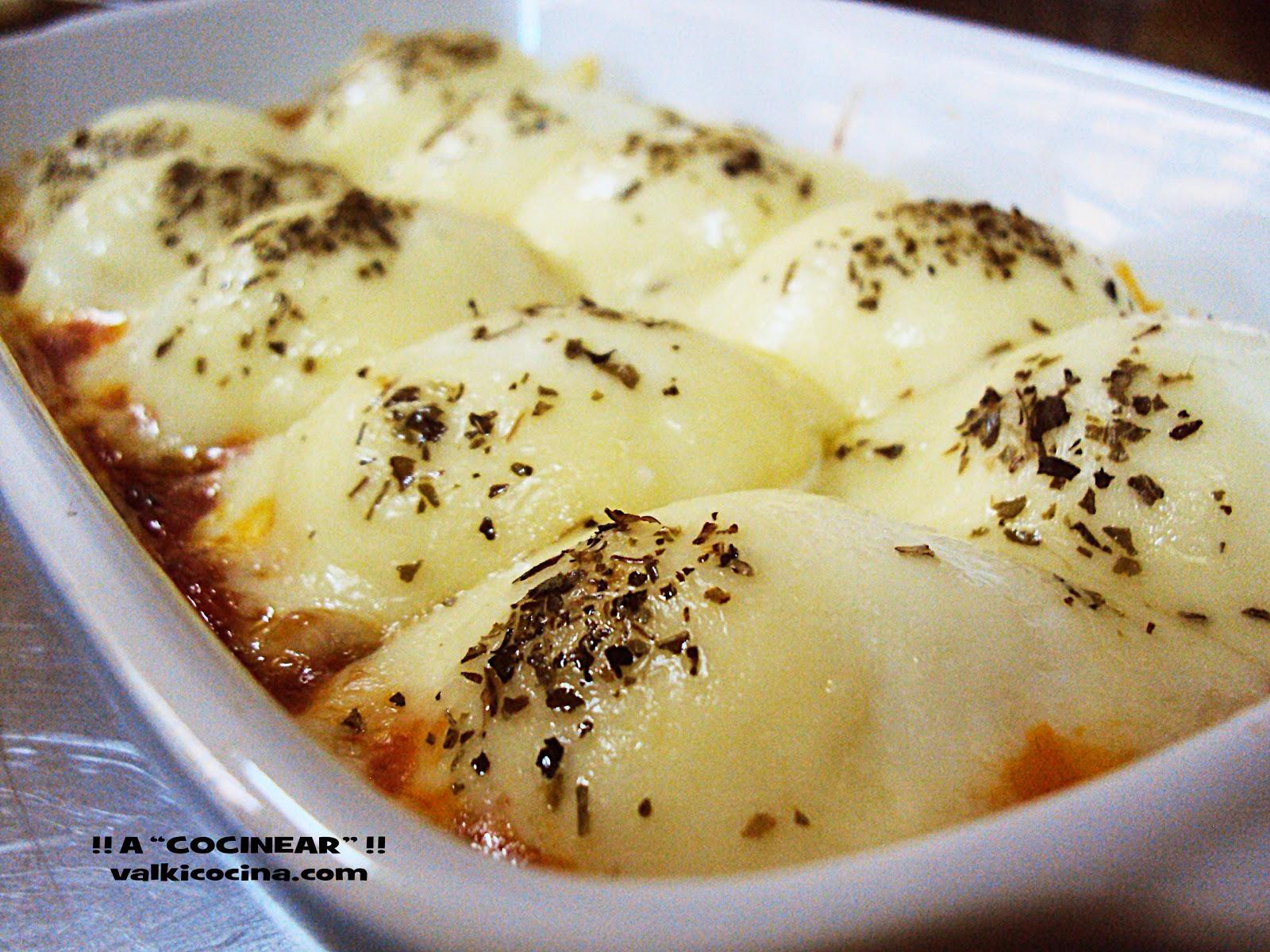 tapas con queso gratinado