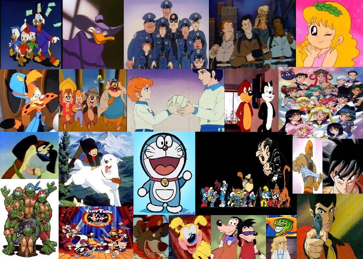 Cartoni animati americani europei e giapponesi trasmessi