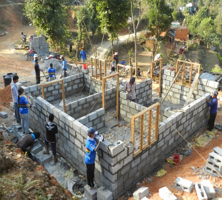 Japanese gv team pokhara feb23 to mar5 2014 for Construction habitat
