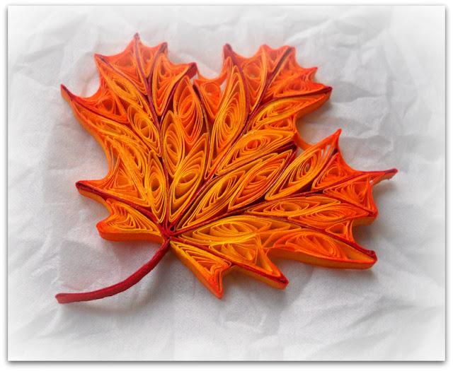 Квиллинг осенние листья