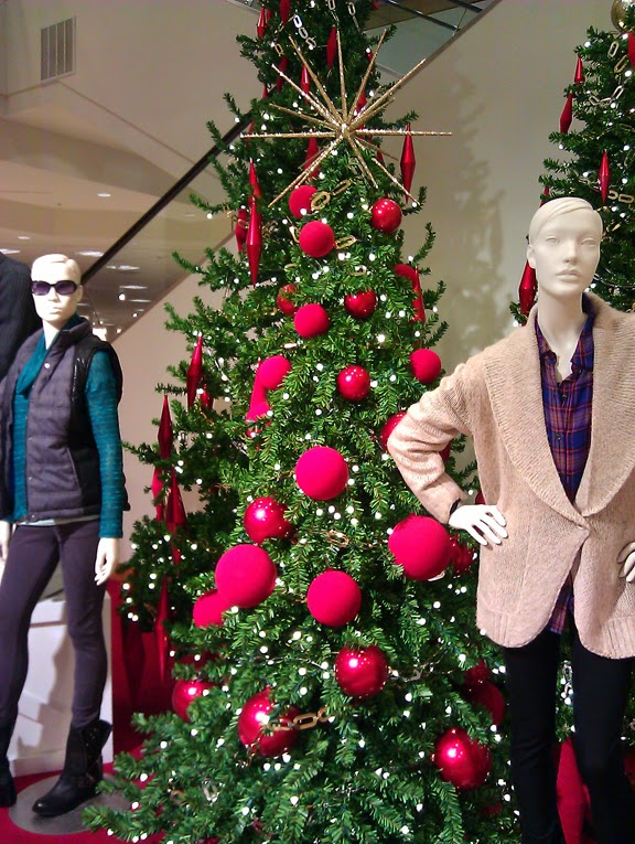 as far as the christmas decor i was inspired by a group of christmas trees that i saw last year in nordstrom