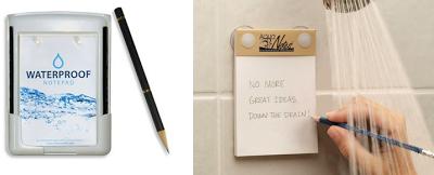 Bloc de notas impermeable para la ducha