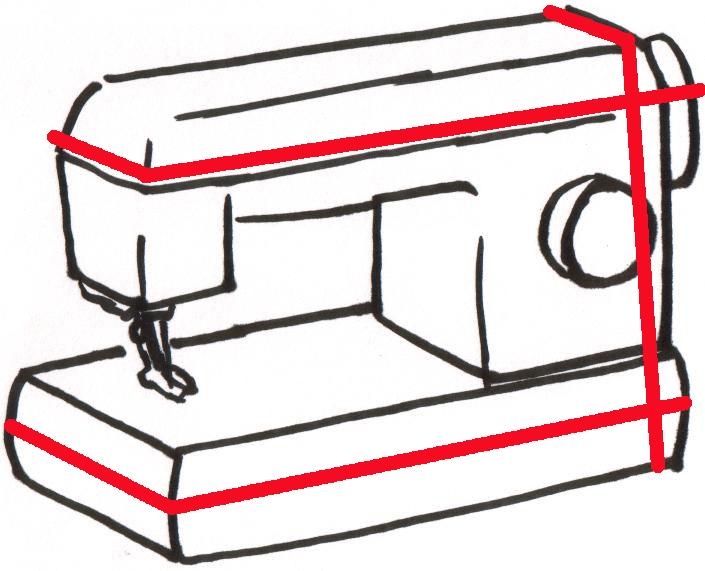 Выкройка чехла для швейной машинки своими руками
