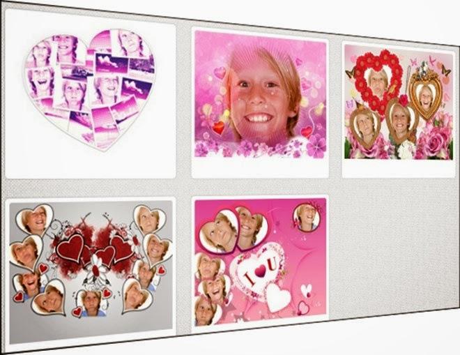 modelos de colagens de fotos amor