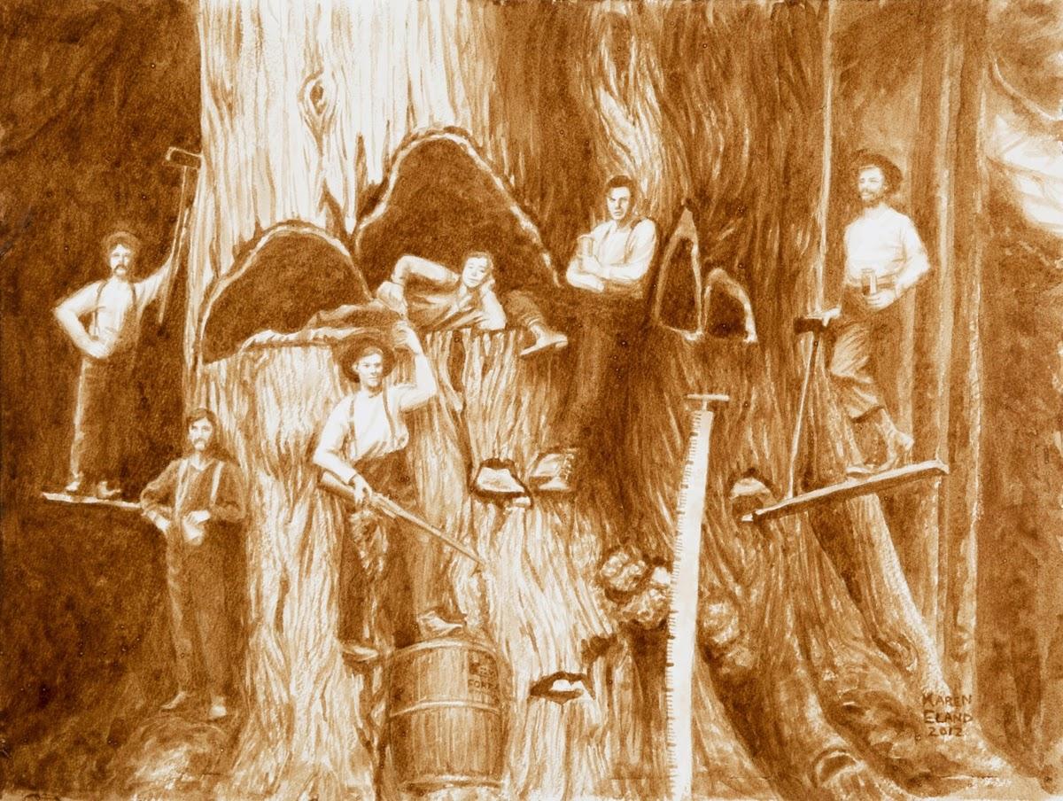 18-The-Lager-Loggers-Karen Eland-Vintage-Looking-Beer-and-Water-Paintings-www-designstack-co