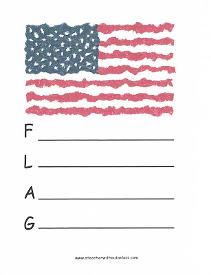 Picture of a flag acrostic
