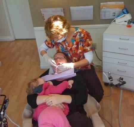 Amamantando en el dentista
