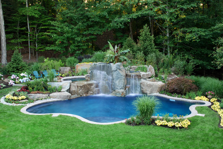 Swimming pool designs for Pool garden plans