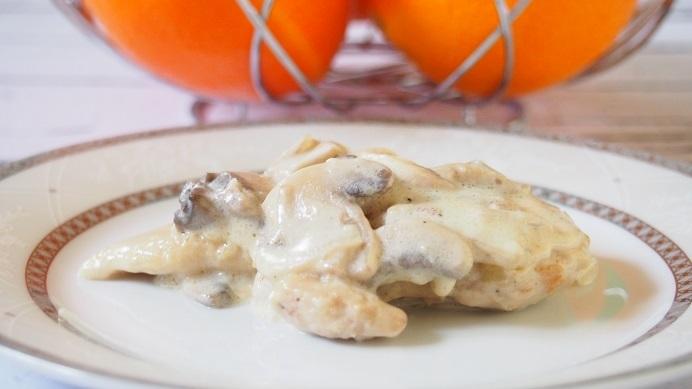 Kurczak w sosie pieczarkowo śmietanowym