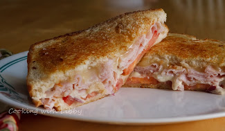 Grilled Tomato, Smoked Turkey, and Muenster Cheese Sandwiches