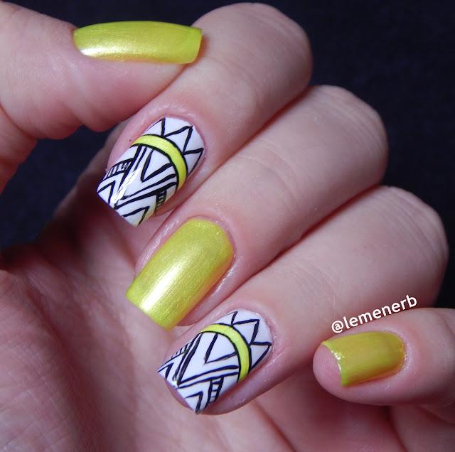 esmalte amarelo neon