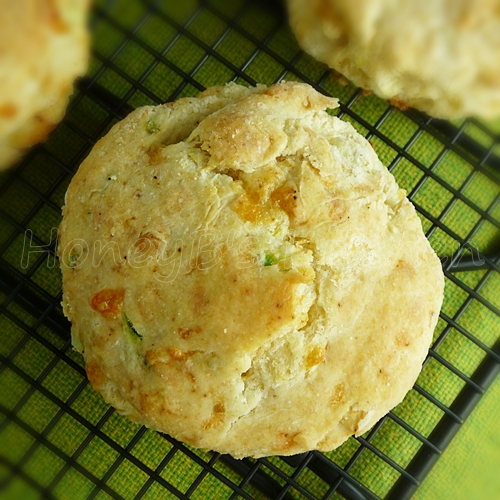 Chipotle Zucchini Cheddar Biscuits - Grumpy's Honey Bunch