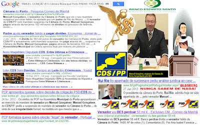 Máfia Portuguesa; Político Negócios; Norte; Padre; Banco BES Perdoa Dívida; Vereador do CDS; Eleito Ilegalmente á Câmara do Porto; Máfia Portuguesa; Político Negócios; Corrupção