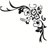 Arabesco para Convite de Casamento, Arabesco, Arabescos pretos