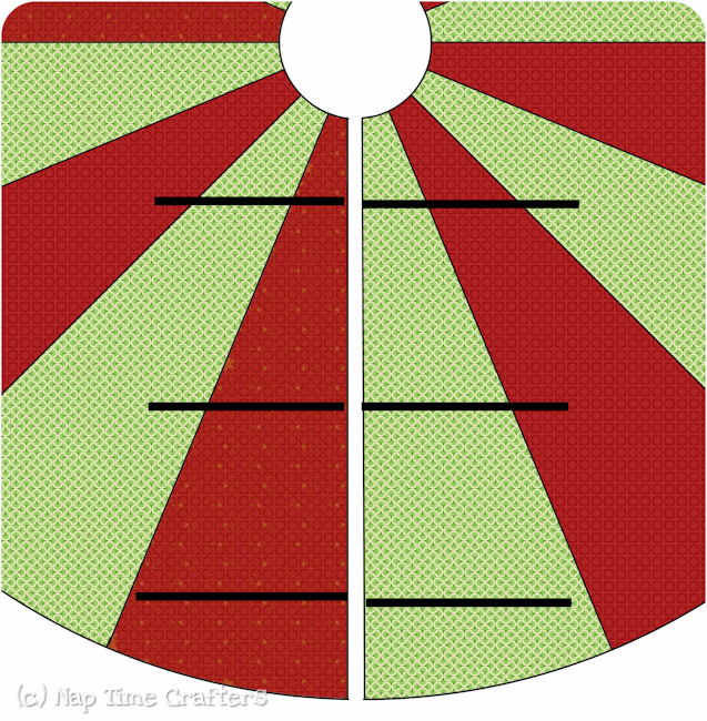 christmas tree skirt and a free pattern the ribbon retreat blog