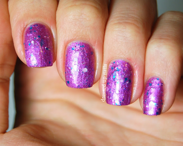 Dressed Up Nails - Delush Polish Luscious Plum swatch