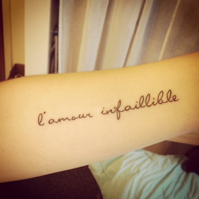 French Tattoo Quote