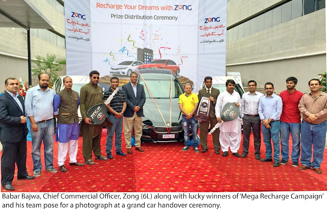 Zong hands over, a brand new BMW & two Toyota Corolla cars  http://www.infopaktel.com/