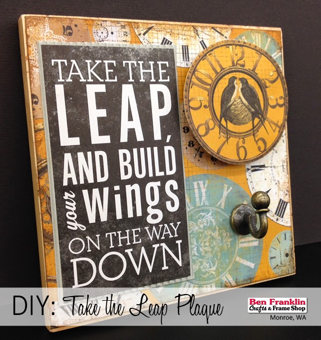 "DIY ""Take the Leap"" Plaque"