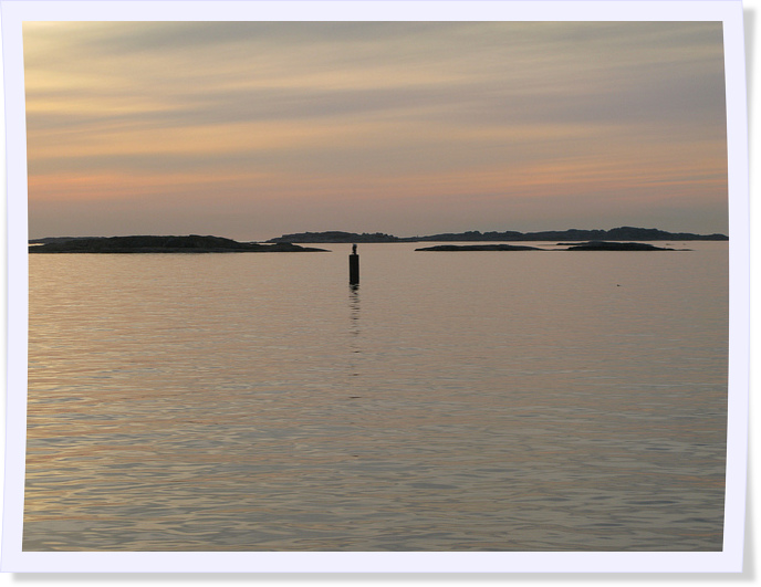 Sunset in  the Gothenburg Archipelago