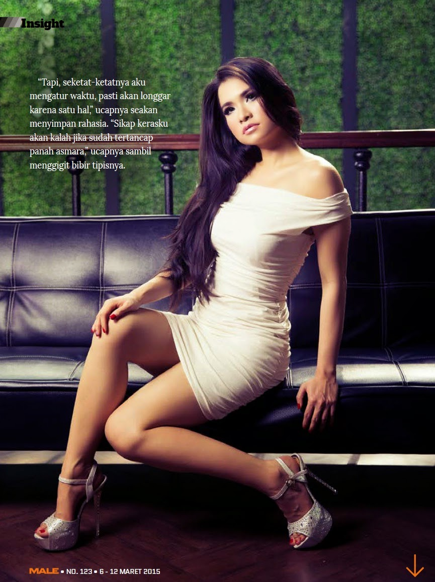 Maria Vania On Male Magazine March  Bi Photography