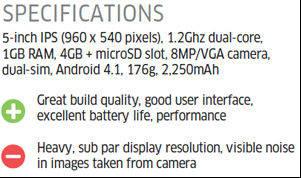 Lenovo s890 Spesifikasi