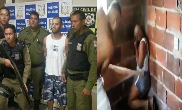Traficante que aparece em vídeo batendo em mulher com pedaço de pau, foi preso no Rio de Janeiro