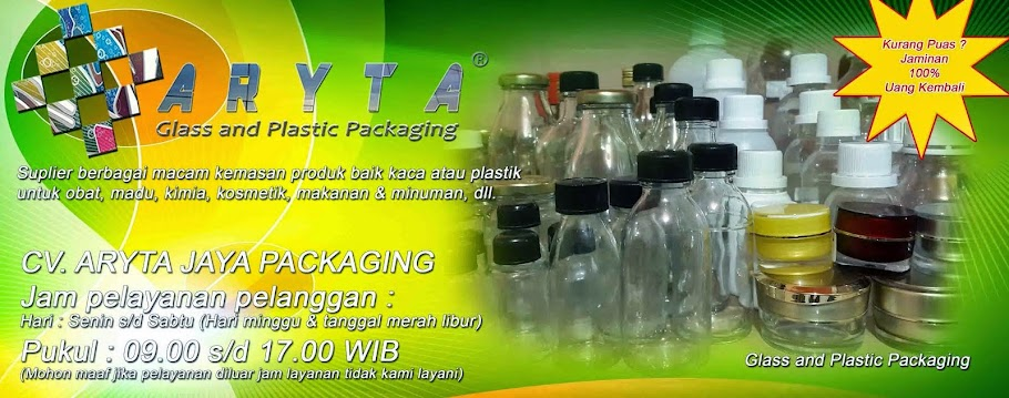 CV. ARYTA JAYA PACKAGING - Suplier Botol Kaca & Plastik