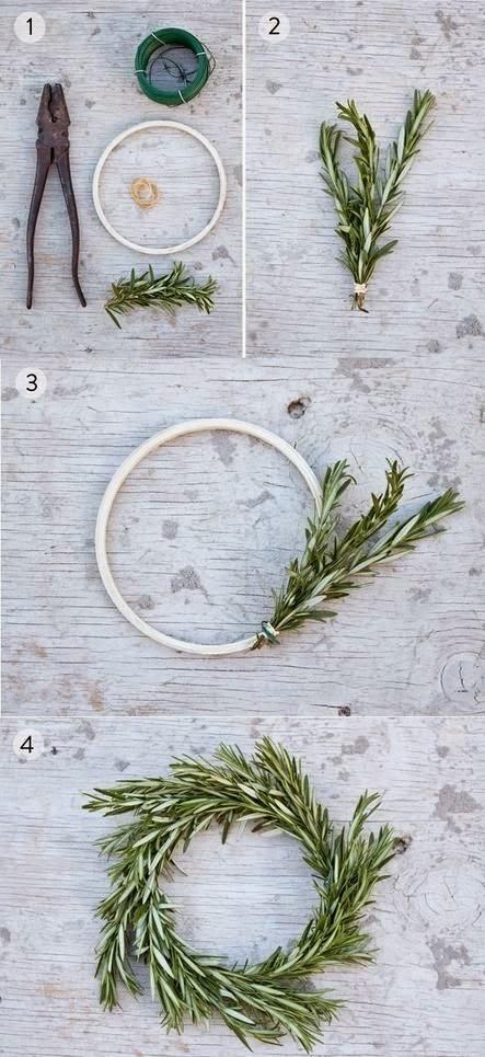 DIY, Corona de Navidad con Follaje