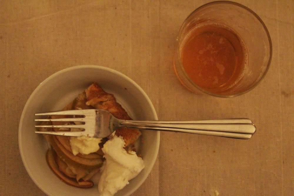 Salted Butter Apple Galette with Maple Whipped Cream and Beer