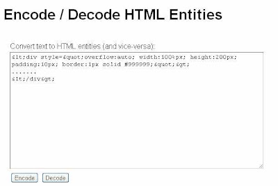 html encode