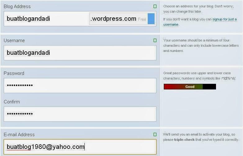 5 Tahap - Cara Membuat Blog di Wordpress Gratis