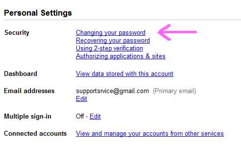 Change google password heartbleed