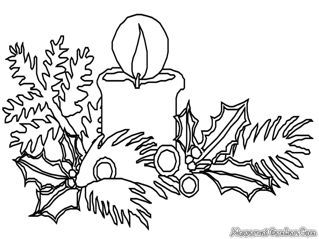 Holly Leaves Coloring Pages