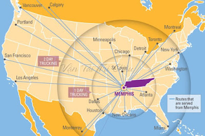 Trung tâm Logistics  Memphis của Mỹ
