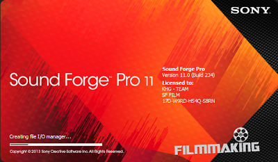 sound forge pro 11 serial number authentication code 17d
