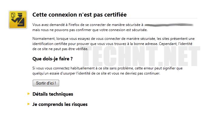 حل للتخلص من رسالة الخطأ في فايرفوكس - Firefox التقنية نت - technt.net