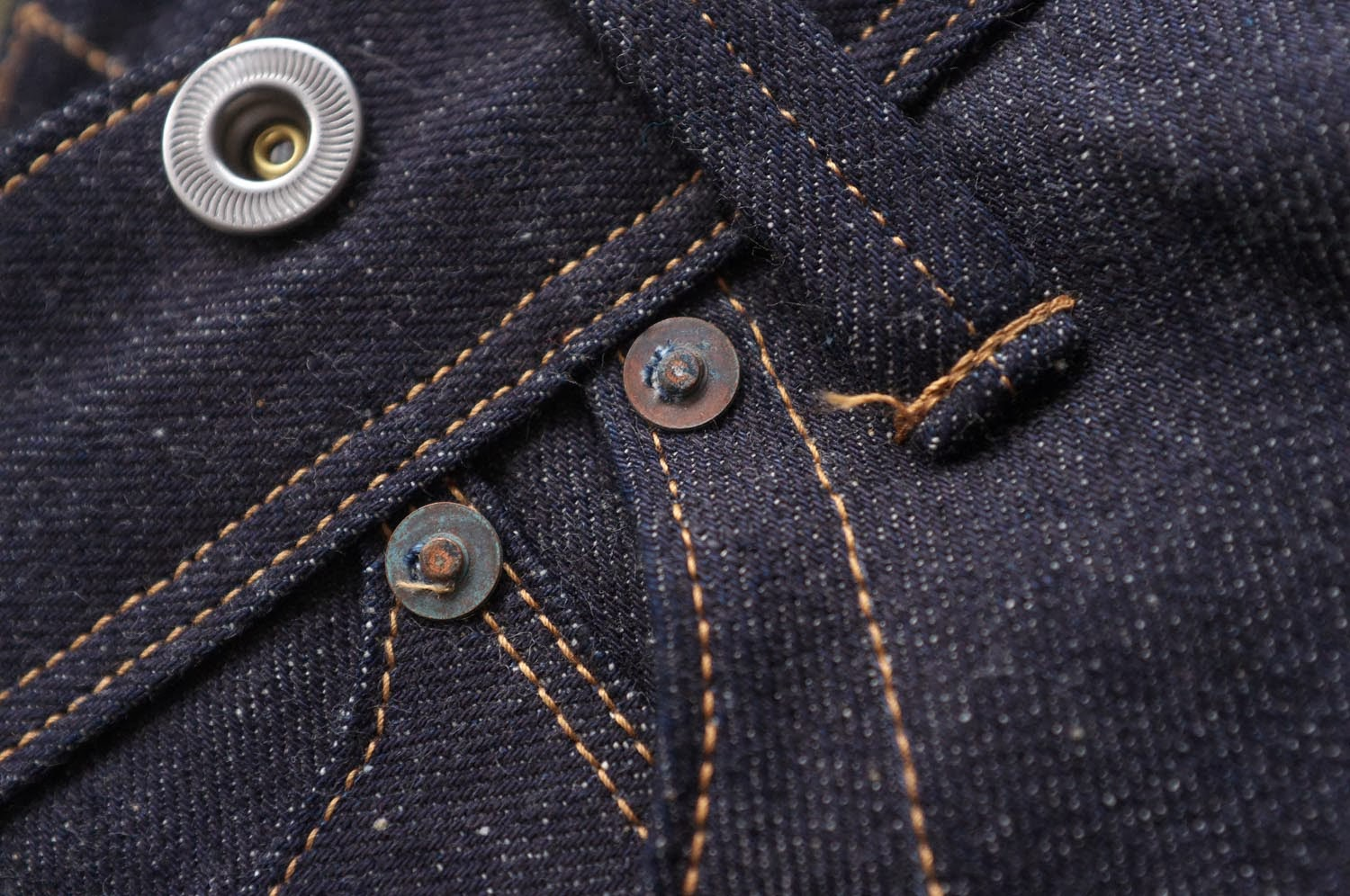 Brown-Duck & Digger 12.5 oz Rough Riders - rivets and donut buttons