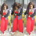Halima Abubakar Shows Off Cleavage In Red Outfit