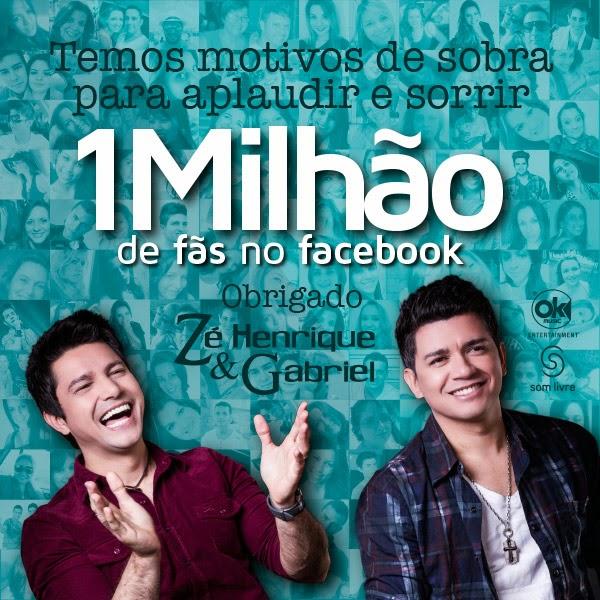 Zé Henrique & Gabriel chegam a 1 milhão de likes no Facebook
