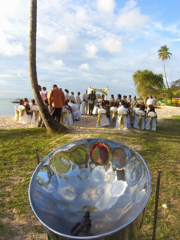 steel pan beach wedding
