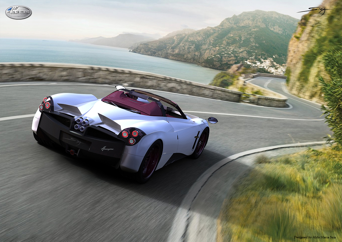 DS pagani huayra roadster : Marchettino - The ONLY official website: Rendering: Pagani Huayra ...