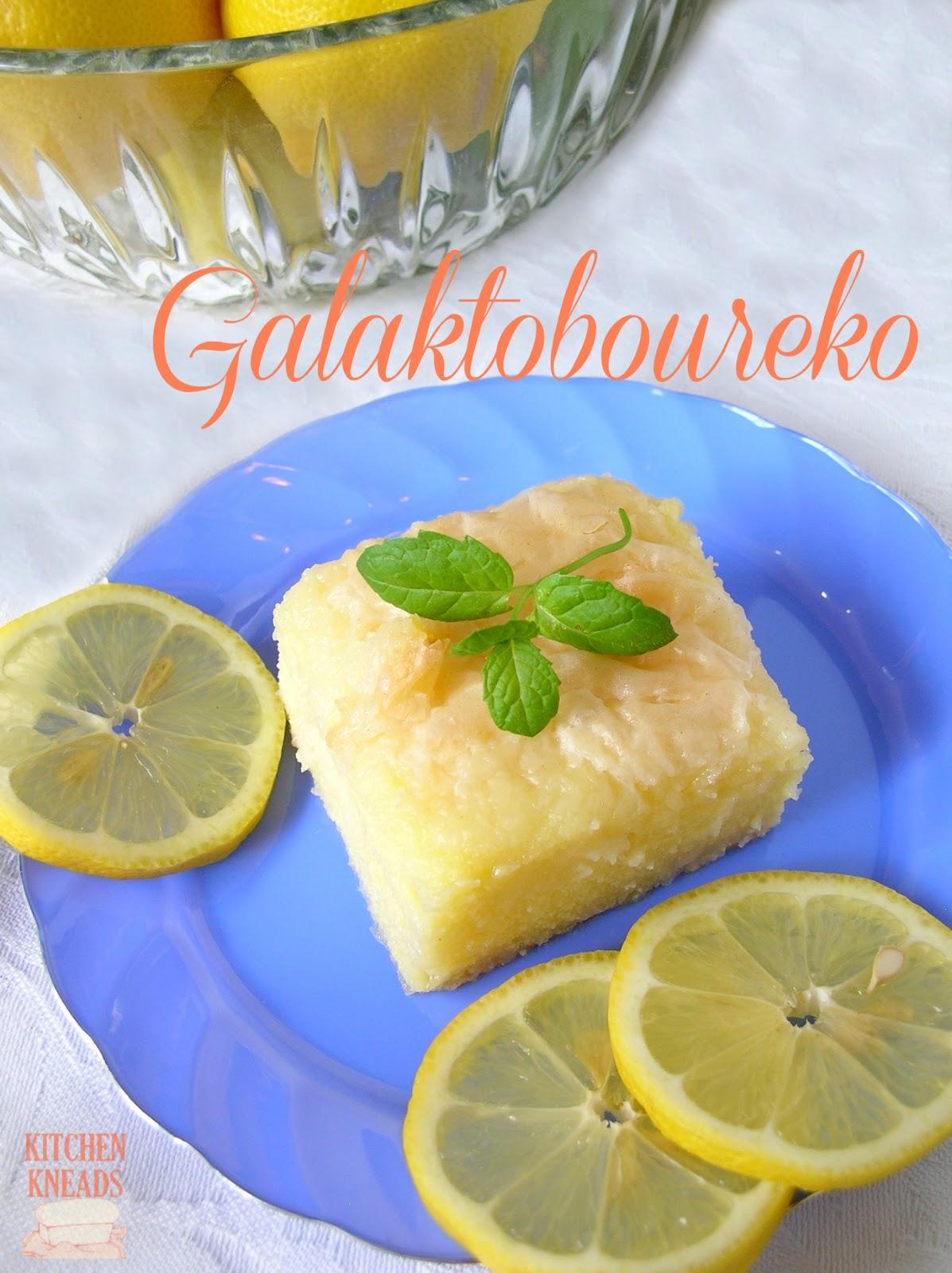 . It's a combination of a semolina-based custard and flaky phyllo ...