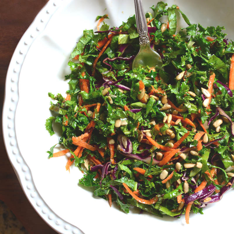 Kale Slaw with Balsamic-Dijon Dressing